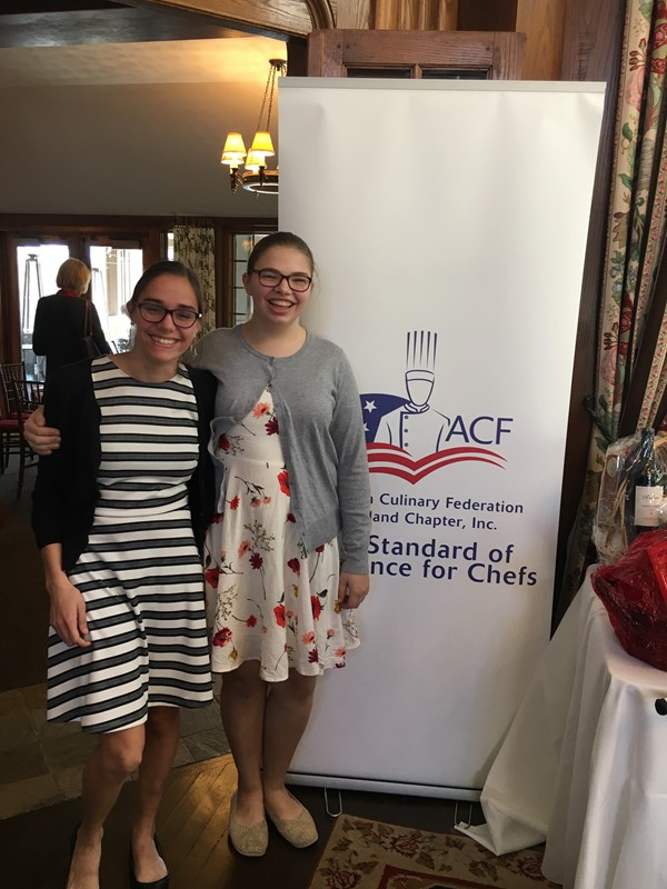American Culinary Federation Scholarship Brunch: Clara Wagh & Jessica Bohannon both received $500.00 for post-secondary school of their choice.  Great job ladies!