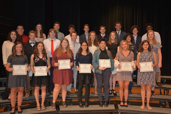 Lakewood Rangers Education Foundation scholarship winners.