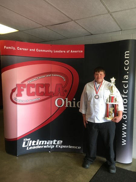 Stephen Watkins: Won first place at the 2016 FCCLA State Competition for Garde Manager