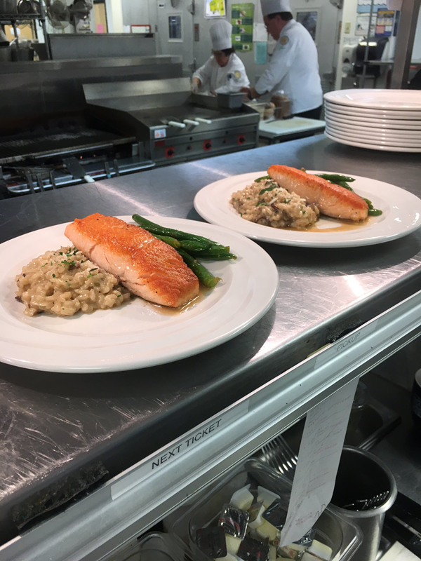Atlantic Seared Salmon Entree