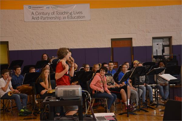 The band and director Julie Tabaj did a great job entertaining everyone until all the student arrived.