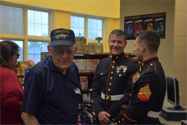 Veterans from different eras mixed and mingled at the breakfast.