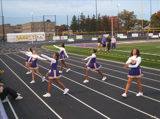 Garfield cheerleaders show some spirit.
