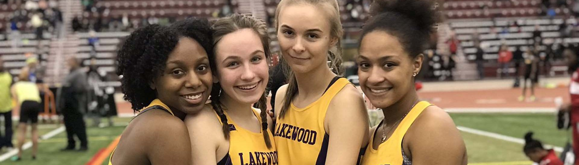 Girls track relay