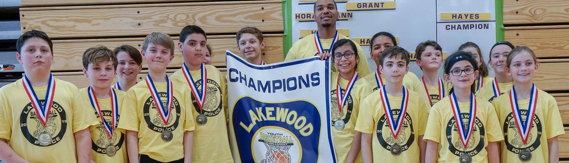 Youth Basketball Tournament champs: Hayes Elementary
