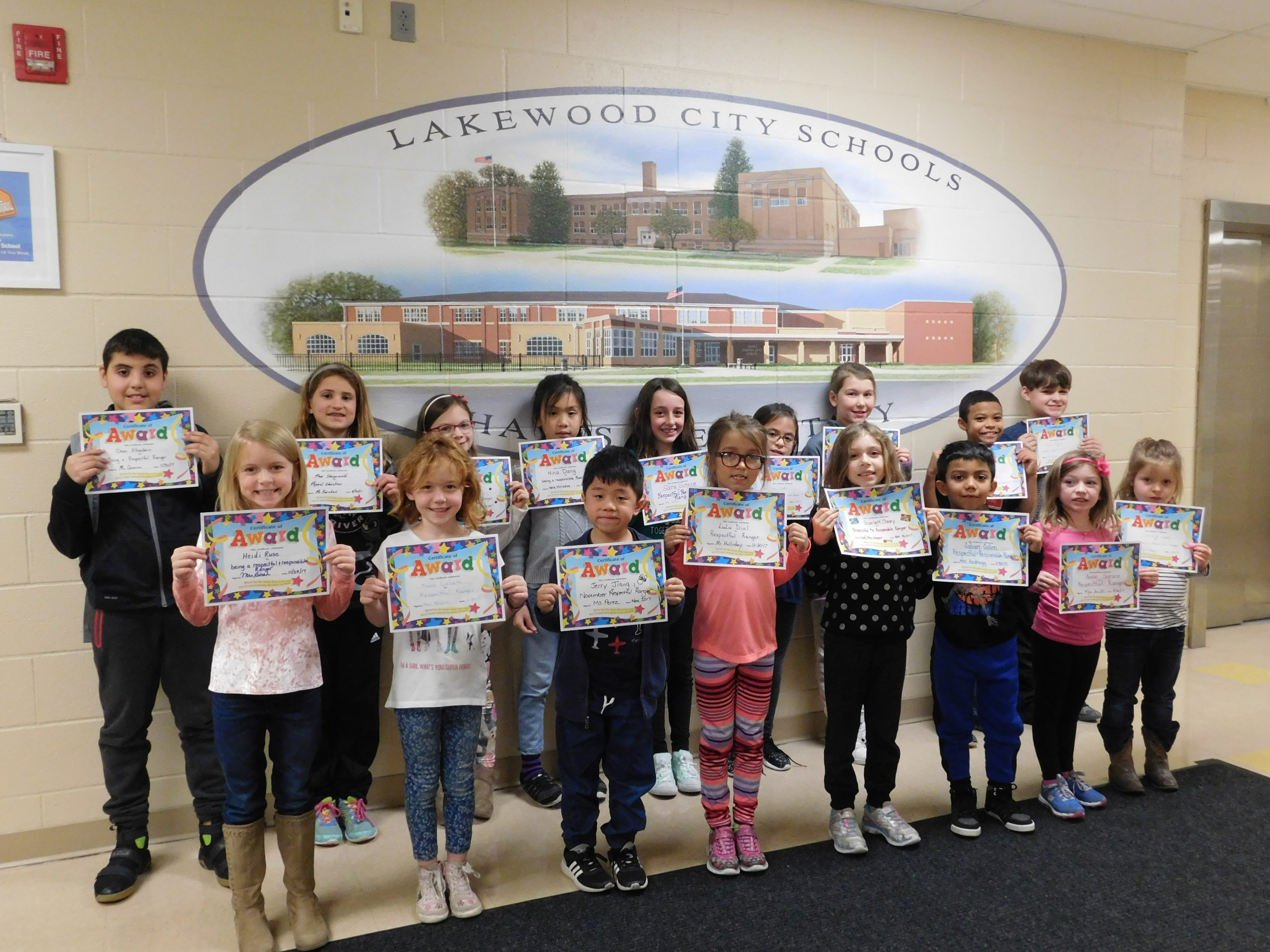 November Respectful Rangers 2017!