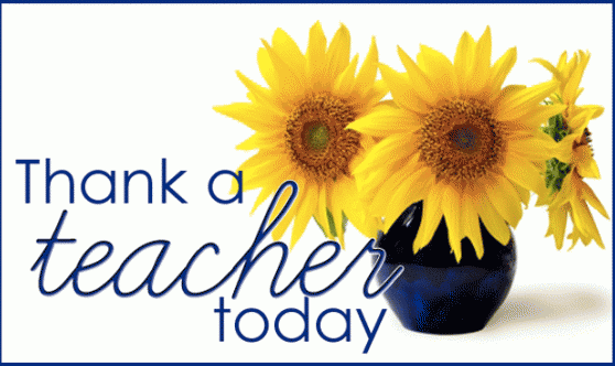 May 11, 2017 National Teacher Day!