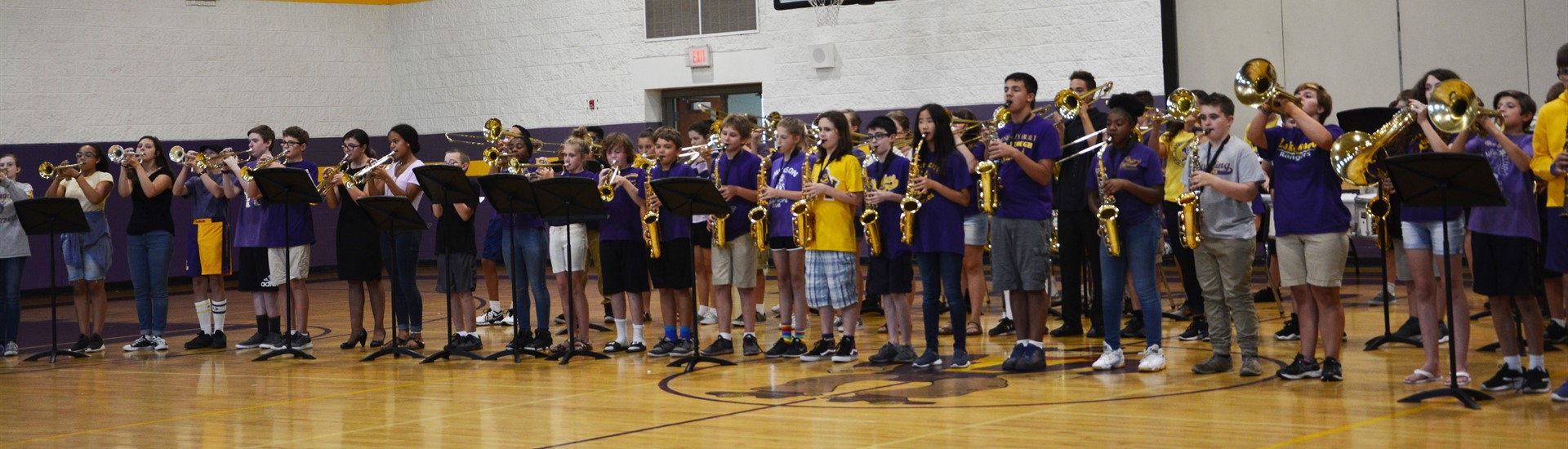 Middle School band at ice cream social