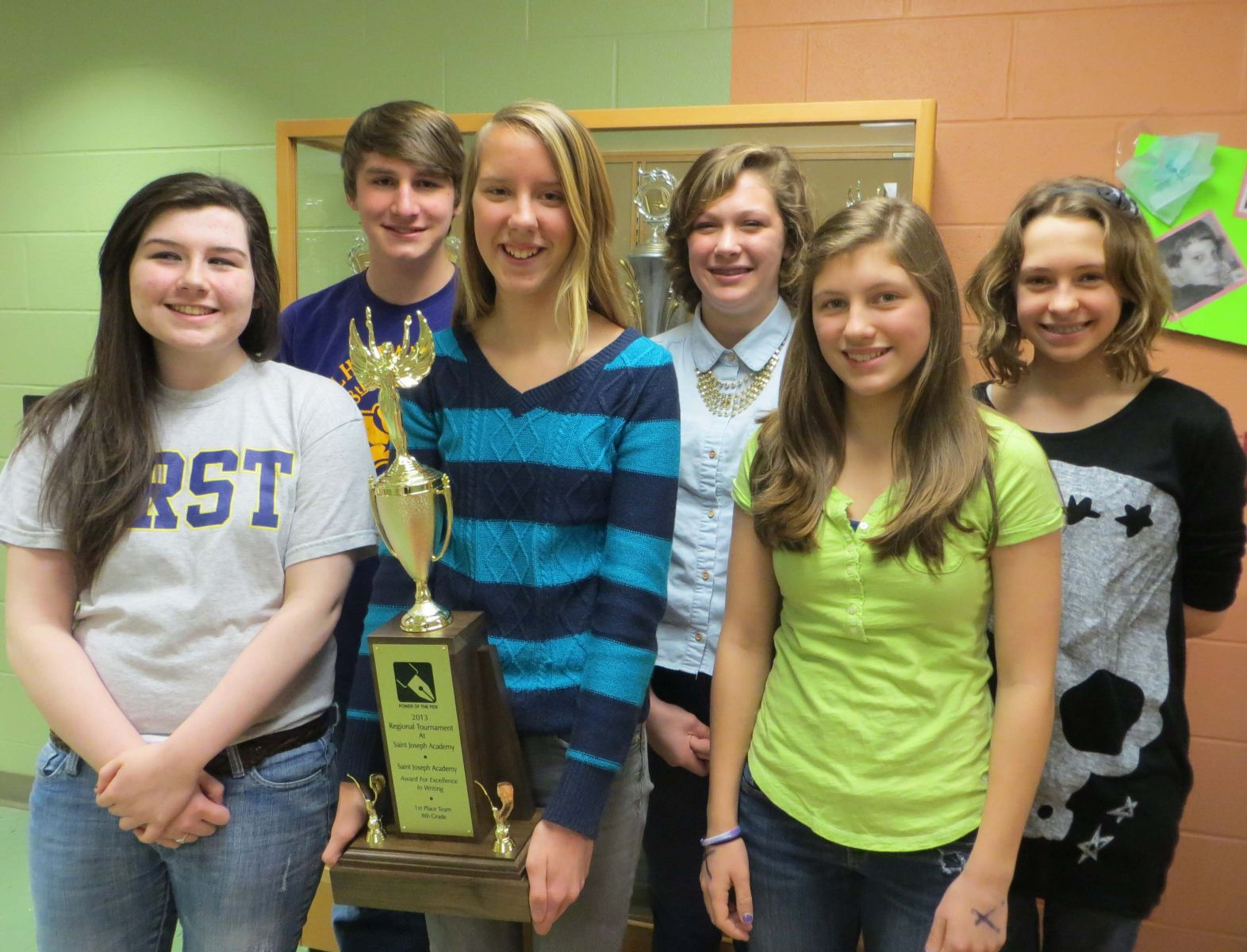 Harding 8th Graders Regional Power Of Pen Champs Harding Middle School