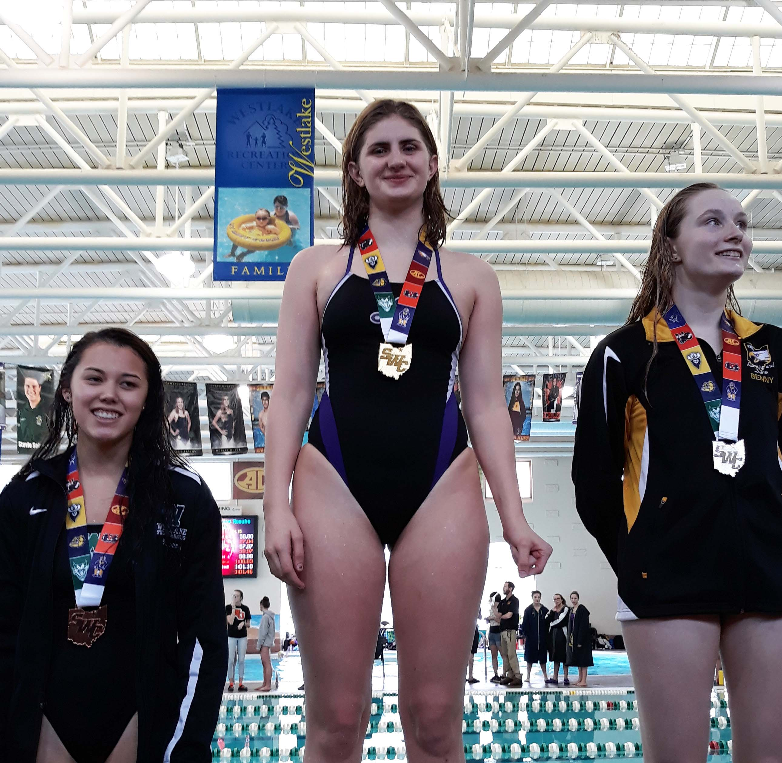 Sistina Simcox on podium