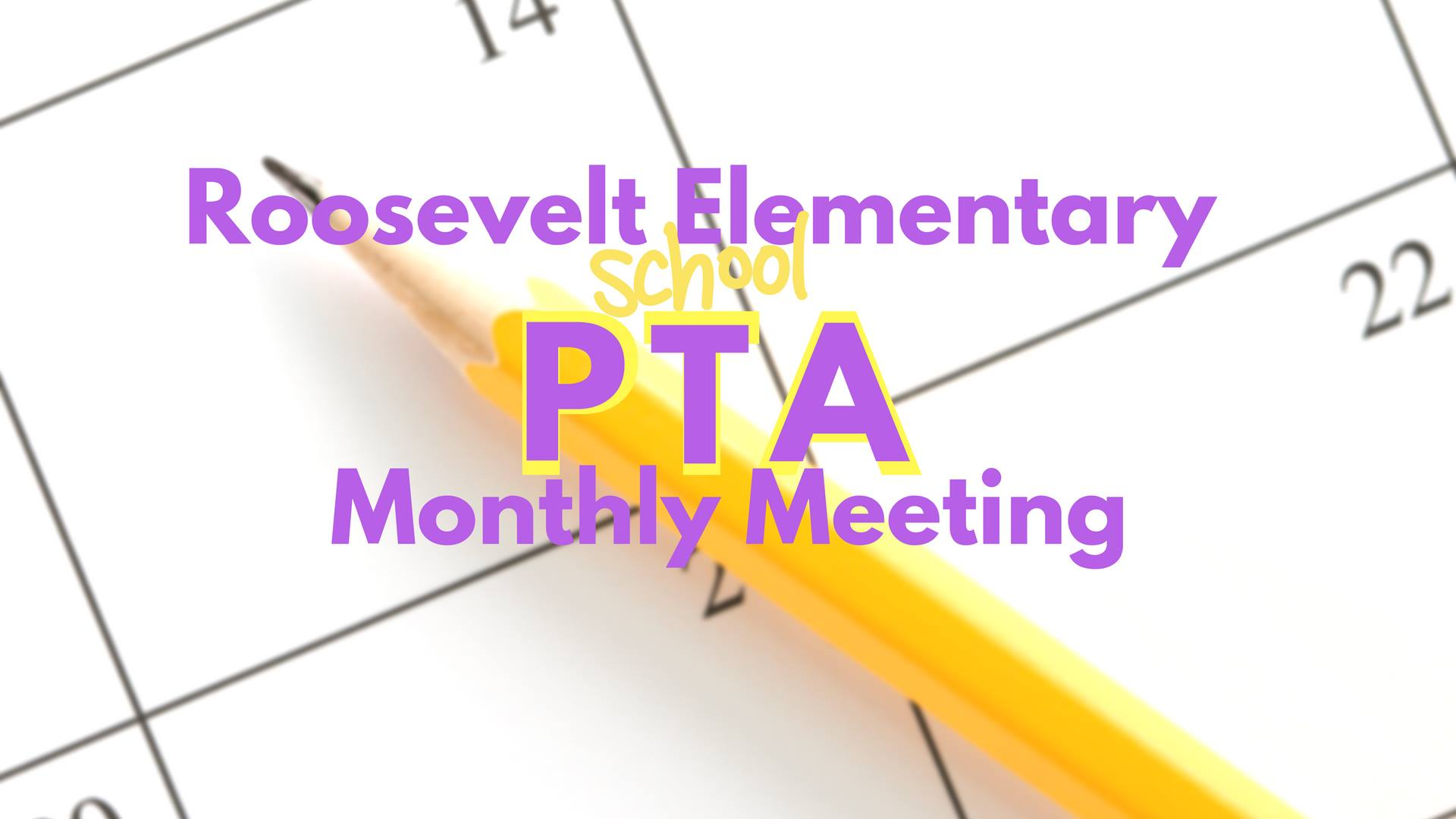 Roosevelt PTA Events